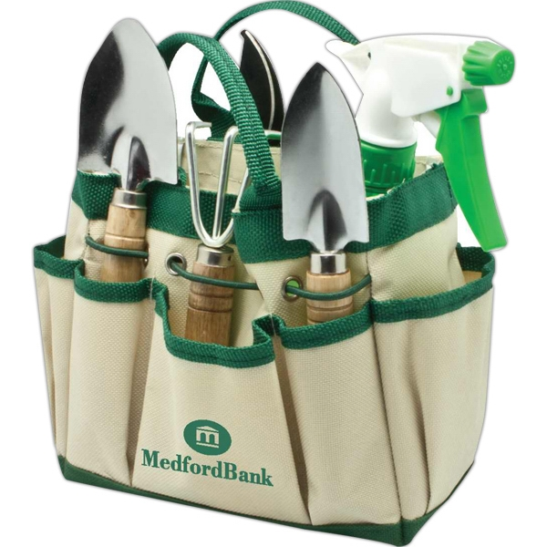 7 Piece Garden Tool Set Stored In A Convenient Carrying Bag Photo
