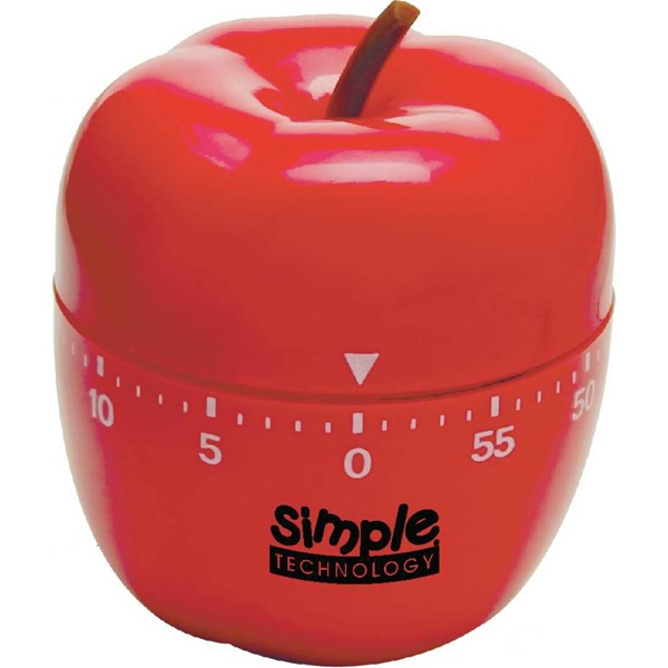 Apple Shaped Winding Timer With Bell Alarm. 60 Minutes Photo