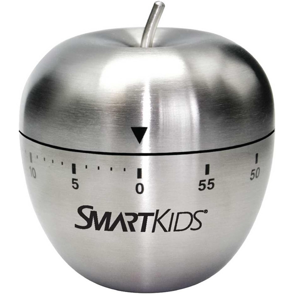 Stainless Steel Apple Shaped 60 Minute Winding Timer With Bell Alarm Photo