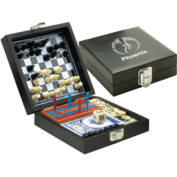 6 In 1 Game Set Includes Backgammon, Chess, Checkers, Cribbage And More Photo