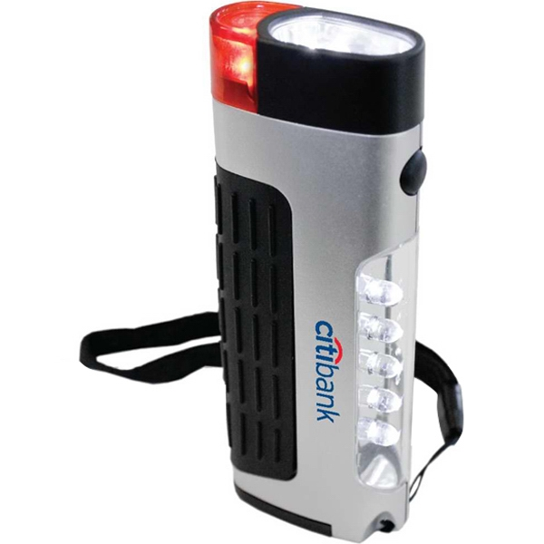Compact 3-function Lantern. 5 Led Area Light, 2 Led Flashlight & Emergency Blinker Photo