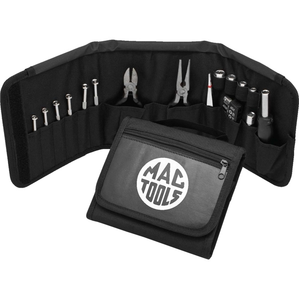 Travel Tool Set. Includes Ratchet, Pliers, Wire Cutter, Tweezers & Screwdriver Set Photo