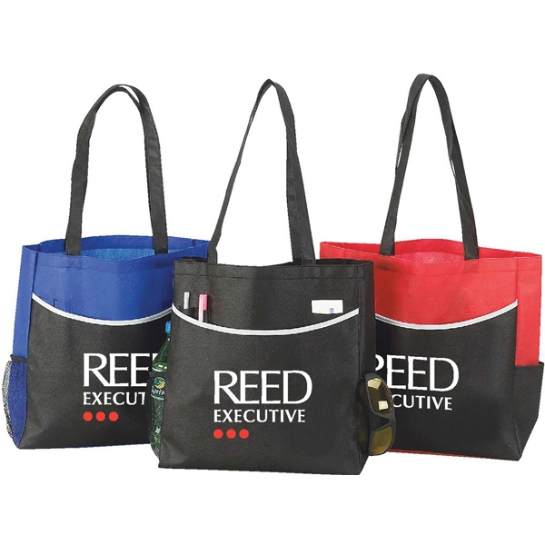 Faeroe - Tote Bag With Large Front Pocket With Pen Loops, Card Holder And Two Side Pockets Photo