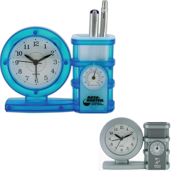 All-in-one Clock, Pen Holder, Temperature Gauge And Alarm Photo