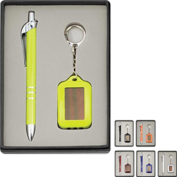Trinity Solarian - Gift Set With Metal Ballpoint Pen And Solar Key Chain In Gift Box With Eva Tray Photo
