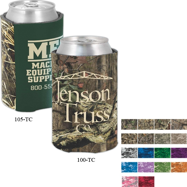 Camo Coolies (tm) - Two-tone Can Insulator With Trademark Camouflage Accent Panel Photo