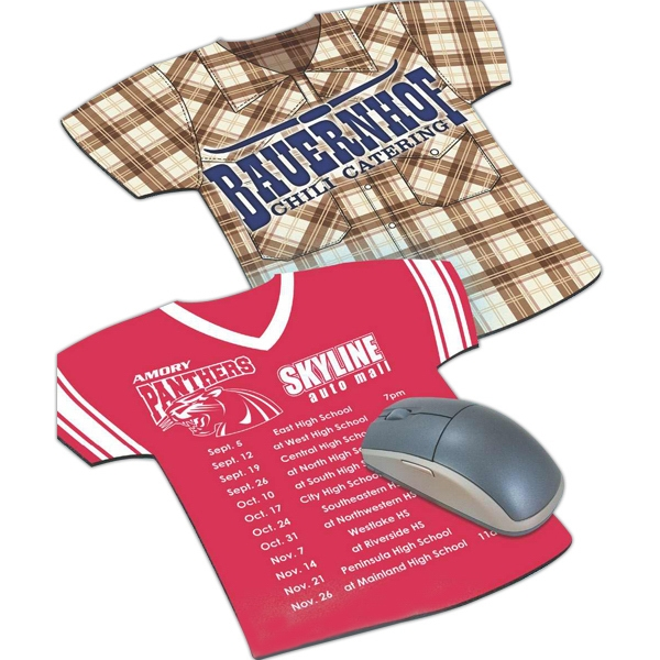 Four Color Process Jersey Tee Shirt Shaped Mouse Pad Photo