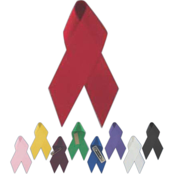 Blank Awareness Ribbon With Pin Backing Photo