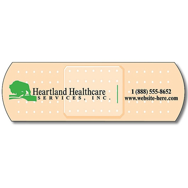 "Health Magnet With Bandage Shape. 3.5"" X 1.125"". 25 Mil Thick Photo"