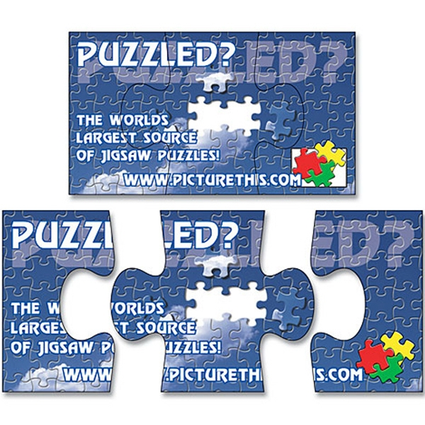 "Magnet - 3-piece Puzzle Shape (3.5"" X 2"") - 25 Mil Photo"