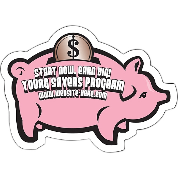 "Magnet - Piggy Bank Shape (3.5"" X 2.5"") - 30 Mil Photo"