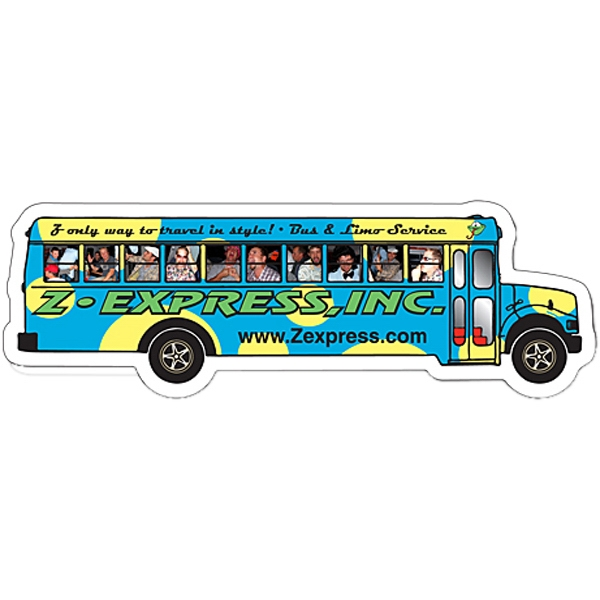 "Magnet - School Bus Shape (5.25"" X 1.75"") - 25 Mil Photo"