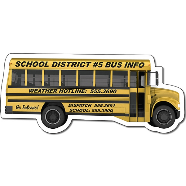 "Magnet - School Bus Shape (4.88"" X 2.1214"") - 30 Mil Photo"