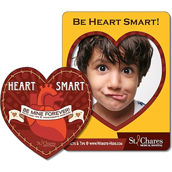 "Health Magnet - Picture Frame Heart Punch - 3.5"" X 4.5"" - 25 Mil Photo"