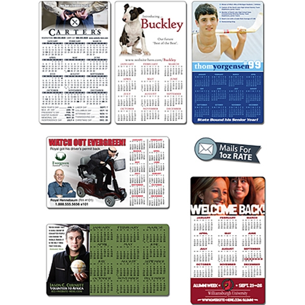 "Announcement Calendar Magnet. 3.5"" X 6"" With Round Corners. 25 Mil Thick Photo"