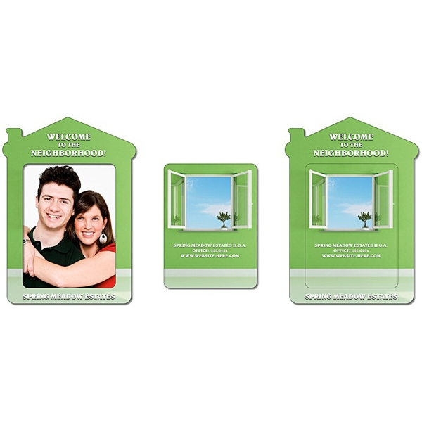 "Tuffmag (tm) - Magnet - House Shape Picture Frame (approximately 4.3"" X 6"") - Outdoor Safe Photo"