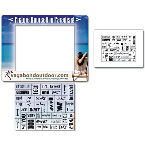 "Magna-phrase (tm) Tuffmag (tm) - Magnet - Picture Frame 6.5"" X 5"" With Pull-apart Word Magnets - Outdoor Safe Photo"