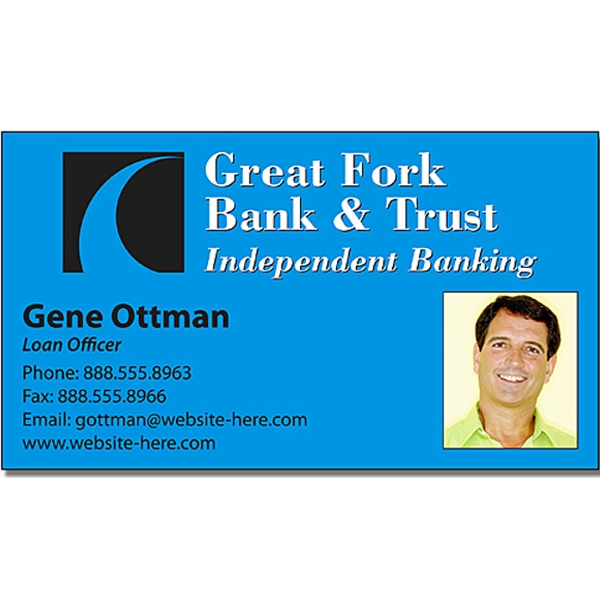 "Financial Services Business Card Magnet - 3.5"" X 2"" Rectangle With Square Corners Photo"