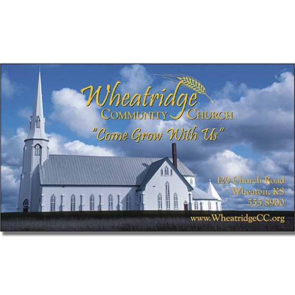 "Religious Business Card Magnet - 3.5"" X 2"" Rectangle With Square Corners Photo"