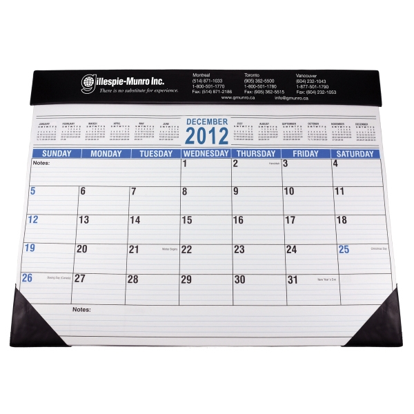 "Full Size Desk Planner With Black Vinyl Trim. 22"" X 17"" Photo"