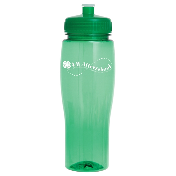 Contour - Push Pull Lid - Translucent Sports Bottle, 24 Oz Photo