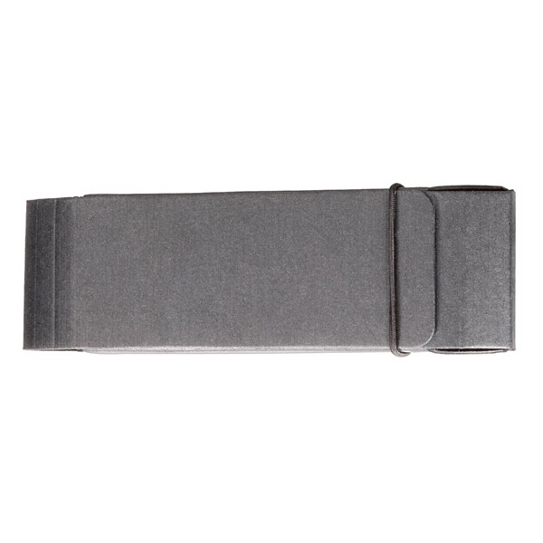 Sleek Black Cardboard Case With Elastic Closure For Pen And Pencil Sets Photo