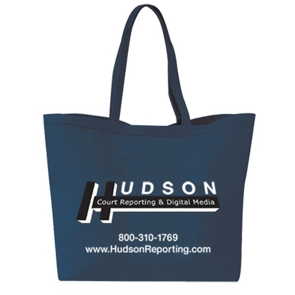 Basic Cotton Canvas Shopping Tote Photo