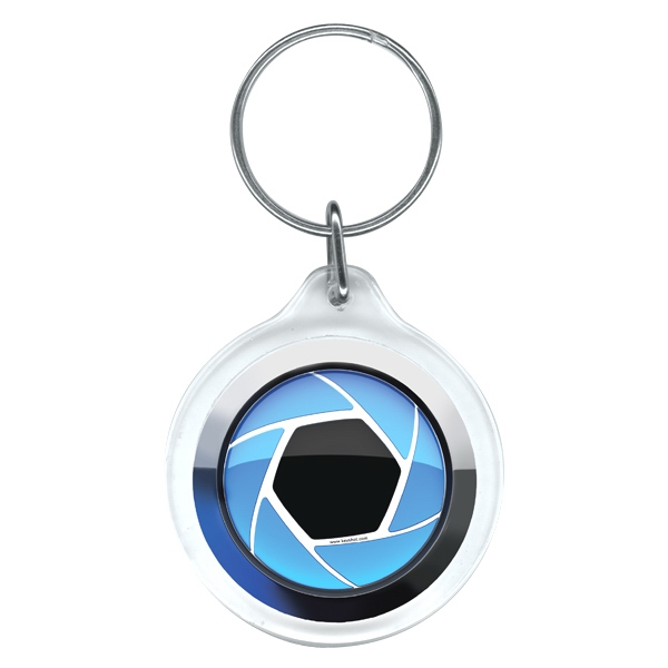 5 Working Days - Full Color Round Key Ring Photo