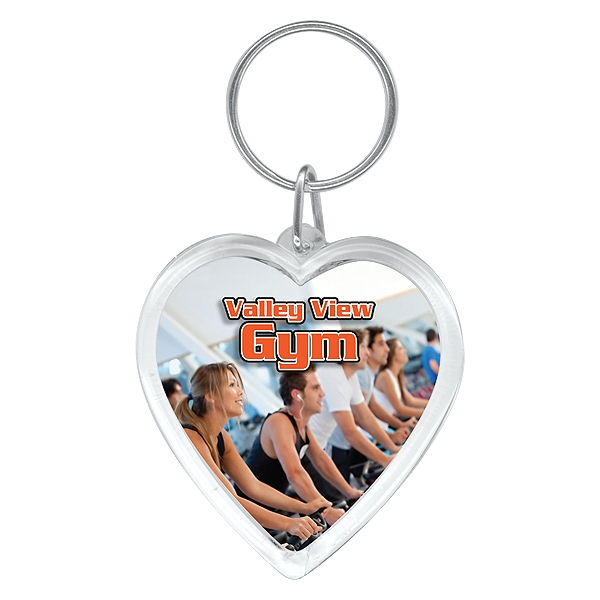 5 Working Days - Full Color Heart Key Ring Photo