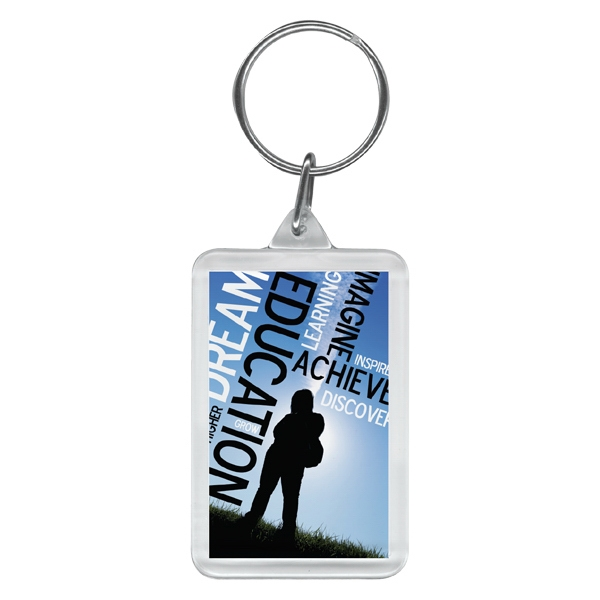 2 Working Days - Full Color Rectangular Key Ring Photo