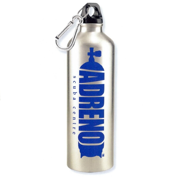 Hydro - Silver - Aluminum Sports Bottle With Carabiner, 25 Oz Photo