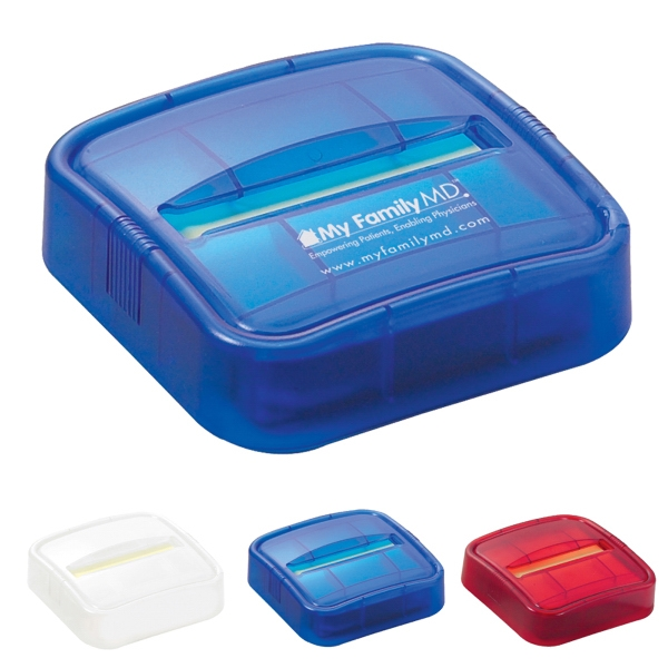 Plastic Dispenser With Sticky Notepads Inserted Photo