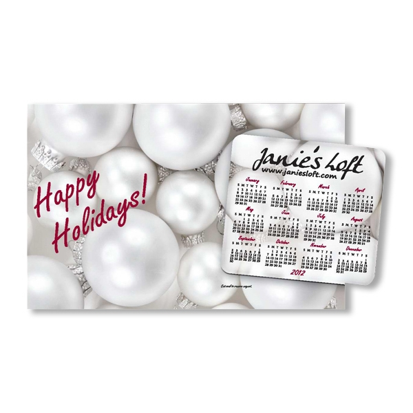 Smartline (tm);superseal (r) - Sealed Laminated Happy Holidays! Greeting Card With Calendar Magnet Photo