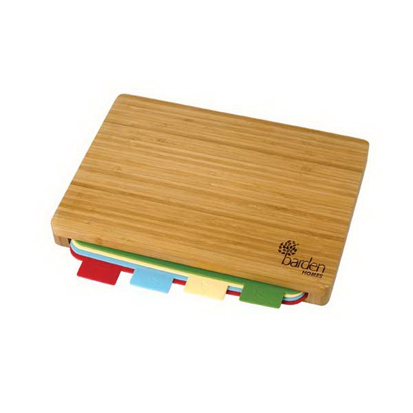 5 Piece Bamboo Cutting Board Set