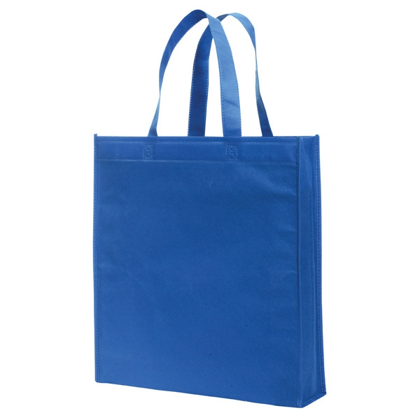Non-woven Standard Solid Color Tote Bag. Blank Photo