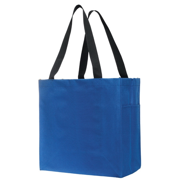 Carry-all Polyester Tote Bag. Blank Photo