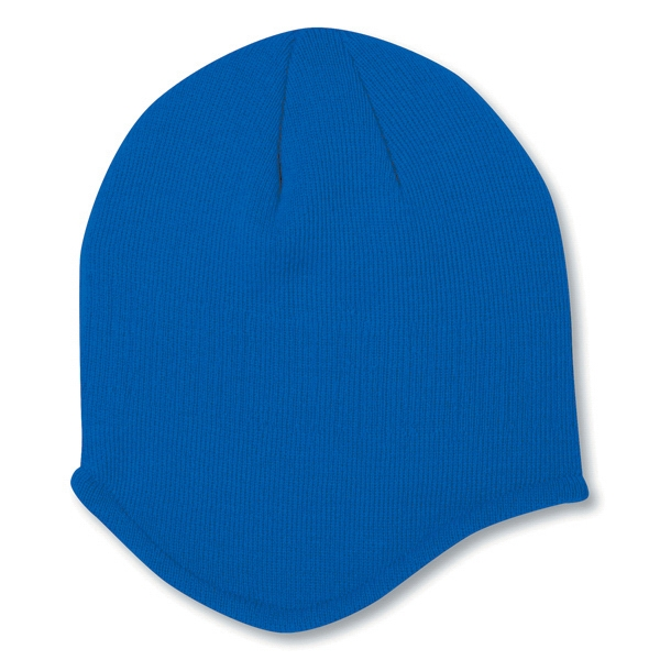 Solid Color 100% Acrylic Knit Beanie. Blank Photo