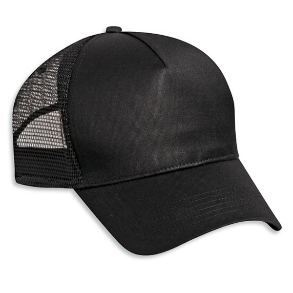Five Panel Low Profile Pro Style Mesh Back Cap With Plastic Snap. Blank Photo