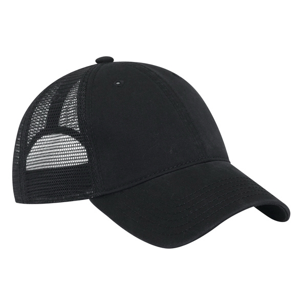 Superior Garment Washed Cotton Twill, Solid Color, Pro Style Mesh Back Cap. Blank Photo