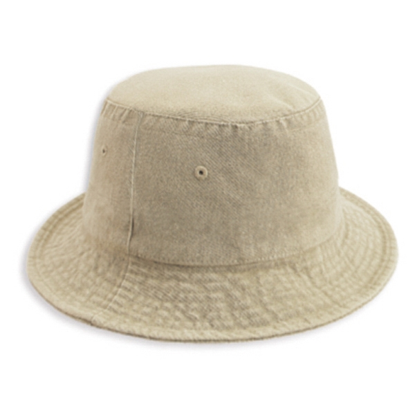Garment Washed 100% Cotton Twill Bucket Hat. Blank Photo