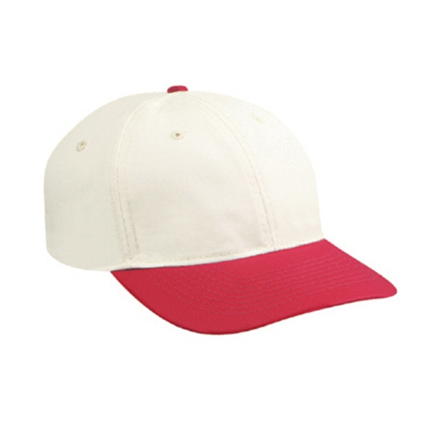 Low Fitting, Natural Polyester/cotton Twill, Low Profile Six Panel Cap. Blank Photo