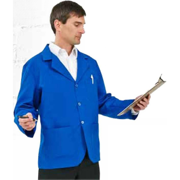 S -  X L - Men's Pharmacy Jacket With 3 Button Closure. Blank Photo