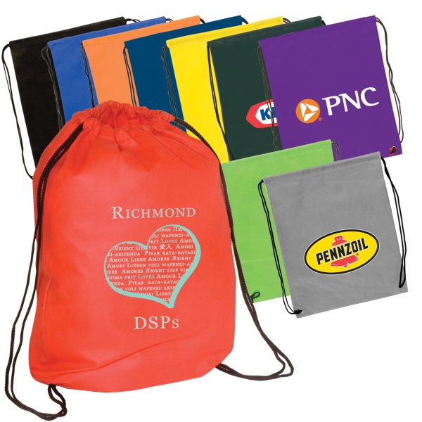 Econo - Hand Washable And Recyclable Non-woven String Backpack Photo