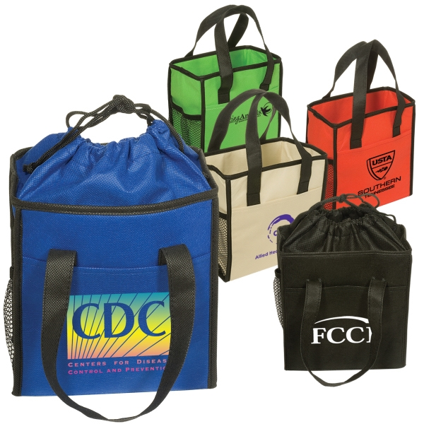 Non-woven Drawstring Lunch Tote. Closeout Photo