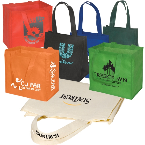Eco-responsible (tm) Econo Enviro-shopper - Non Woven Reusable 80 Gsm Tote Bag, An Eco-responsible (tm) Product Photo