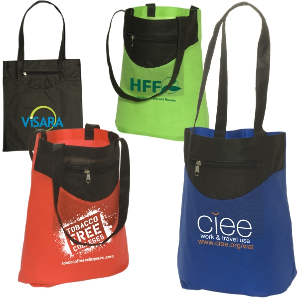 Zip-pocket Non-woven Tote Photo