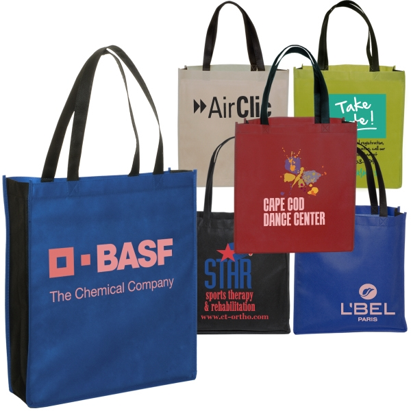 Non Woven Two Tone Tote, 80gsm Photo