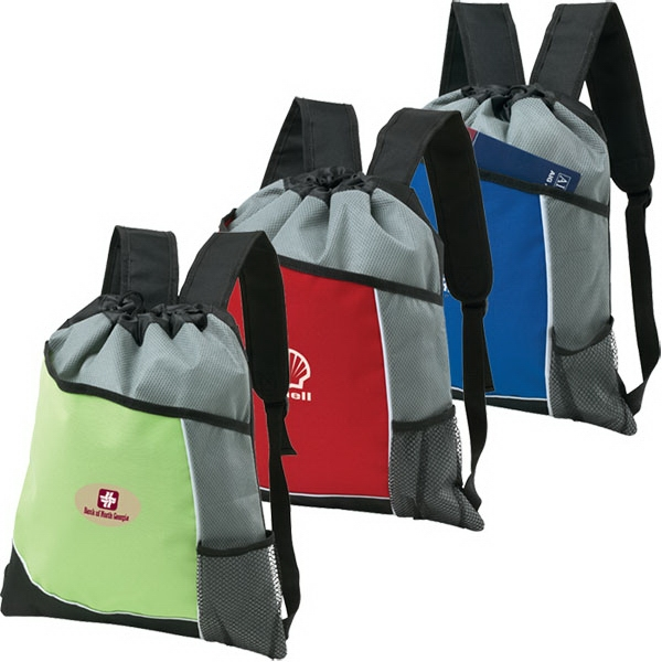 Malibu - Backpack/cinchpack Made Of Polyester With Diamond Non-woven Polypropylene Photo