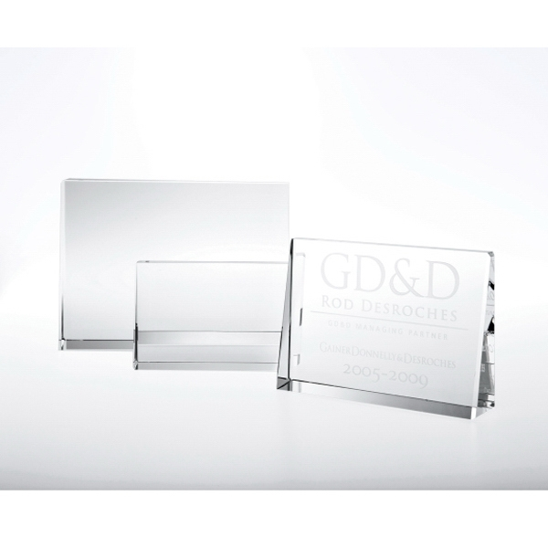 "4"" X 6"" X 1"" - Optical Crystal Plaque Photo"