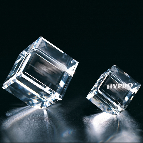 "Intellect Cube - 1 1/4"" X 2"" X 1 1/2"" - Optical Crystal Cube Paperweight Photo"